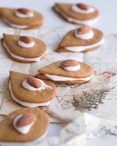 Gingerbread Sandwich Cookies with Cardamom Royal Icing