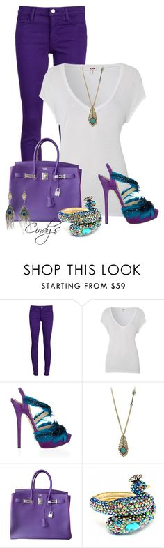 """""""Purple jeans"""" by cindycook10 ❤ liked on Polyvore featuring Joe's Jeans, LnA, Jimmy Choo, Wildfox, Hermès, Fantasy Jewelry Box and Alkemie"""