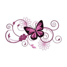 Most current Absolutely Free butterfly embroidery designs Thoughts Butterfly Drawing, Butterfly Tattoo Designs, Butterfly Embroidery, Pink Butterfly, Butterfly Design, Lotus Flower, Bow Tattoo Designs, Tribal Butterfly, Butterfly Tattoos For Women
