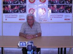 """Foto - Entrevista a Domingo Santana """"Valencia"""", para el libro """"El isleño Valencia. Memorias y Reflexiones"""""""