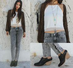 Bershka Top, J Brand Jeans, Jeffrey Campbell Shoes, Free People Necklace, Zara Top