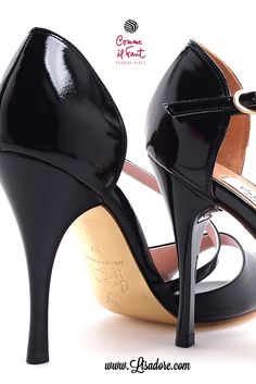 Make a Statement on the Dance Floor! Beautiful Black Patent Leather Dancing Shoes by Comme il Faut for Argentine Tango, Salsa and Bachata !