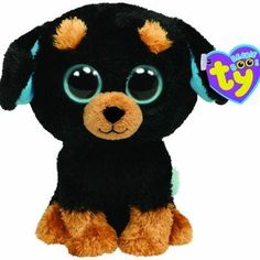 Ty Beanie Boos Tuffy Rottweiler Official product from Ty's wildly popular Beanie Boo Collection Look for the familiar heart-shaped tag that . Beanie Boo Party, Ty Animals, Ty Stuffed Animals, Pictures Of Beanie Boos, Rottweiler, Beanie Boo Dogs, Beanie Babies, Ty Beanie Boos Collection, Ty Peluche
