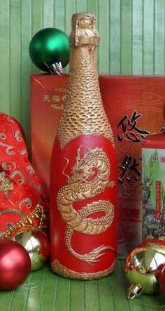 Шампанское «Китайский новый год»_рельеф_печать на кальке