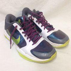 low priced b0214 a8d54 Nike Shoes Zoom Kobe 5 V Chaos Joker Mens 11.5 386429-531 Green Purple  White Low