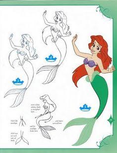 Como dibujar a Ariel