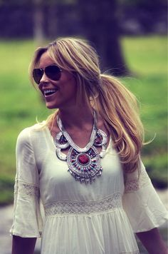 White + necklace