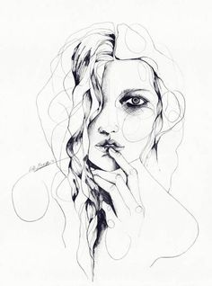 Breathe - Pencil drawing by Scottish illustrator Holly Sharpe