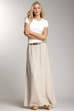 Splendid - Tencel Twill Maxi Skirt ~ Twill = great for fall, nice and long with pockets!