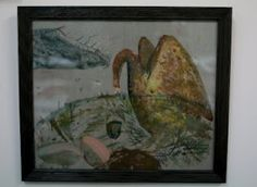 Painting on silk and glass by Rose de Borman