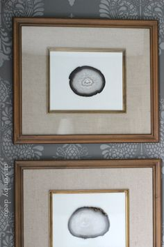 Inexpensive+DIY+art+with+agate+slices+in+Target+frames