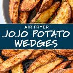 Small Air Fryer, Potato Candy, Potato Crisps, Arrowroot Powder, Potato Wedges, Russet Potatoes, Air Frying, Smoked Paprika, Golden Brown