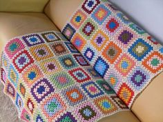The basics of crocheting: granny blanket ♥LCG♥ with diagram