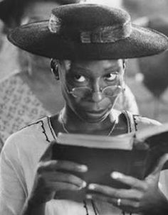 Celie played by Whoopi Goldberg in The Color Purple....One time where the movie was actually as good as the book! LOVED Whoopi in this role ..