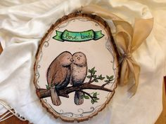 Custom Wall Hanging Love Birds 9 Wall Decor / by SheLikesLetters