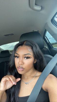 Pretty Black Girls, Black Girls Rock, Beautiful Black Women, Pretty Brown Eyes, Natural Hair Tips, Natural Hair Styles, Black Queen Makeup, Hair Beauty, Beauty Makeup