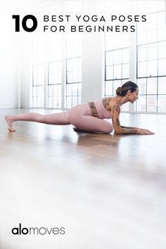 If you're at the beginning of your yoga journey, the sheer amount of poses, names of poses, and types of yoga can seem a bit overwhelming. But like everything, practice makes progress. As you become more comfortable on your mat, you'll start to remember poses and eventually have your favorites, as well as your preferred style of yoga to practice. Gym Workout For Beginners, Fitness Workout For Women, Yoga Poses For Beginners, Yoga Fitness, Basic Yoga Poses, Cool Yoga Poses, Weight Loss Workout Plan, Yoga For Weight Loss, Morning Yoga Flow