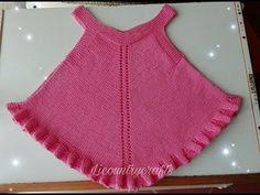 Vestido para niña tejido en dos agujas - YouTube