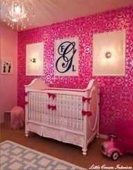 Simplified Bee: Girly, Girl Baby Nursery Rooms (1)