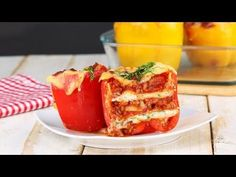 Lasagne in Paprika Mini Lasagne, Italian Recipes, Beef Recipes, Healthy Snacks, Healthy Recipes, Oven Dishes, Dinner Is Served, Mozzarella, Family Meals