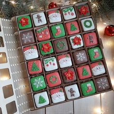 Christmas Baking, Christmas Cookies, Royal Icing, Popsicles, Cake Cookies, Ideas Para, Advent Calendar, Diva, Cakes