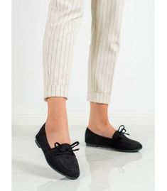 Women's black loafers are universal and comfortable footwear that are a great complement to many different stylizations every day. These slip-on shoes are made of ecological suede Suede Leather, Black Suede, Types Of Heels, Bow Heels, Black Loafers, Artificial Leather, Loafers For Women, Comfortable Shoes, Slip On Shoes