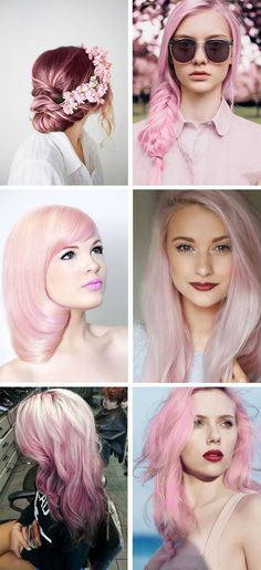 All kind of pink hair inspiration for all types and length of hair! All kind of pink hair inspiratio Beleyage Hair, Hair Day, Look Rose, Pastel Pink Hair, Pastel Colors, Cabello Hair, Corte Y Color, Mermaid Hair, Dream Hair