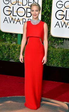 Jennifer Lawrence from 2016 Golden Globes Red Carpet Arrivals