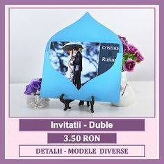 Invitatii nunta personalizate, unicat, marca bebestudio11. Bookends, Cards, Wedding, Design, Home Decor, Valentines Day Weddings, Decoration Home, Room Decor