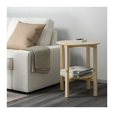 NORNÄS Side table - IKEA $59 (neutral, affordable, soft corners for baby)