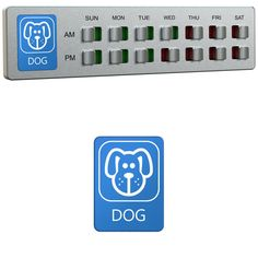 Dog Food Organizer – Pet Feeding Reminder - Am Pm Daily Indicator Sign - Fed or Feed the Puppy Supplies - Fridge Magnets and Double Sided Tape - Care for your Pets with Glide Signs