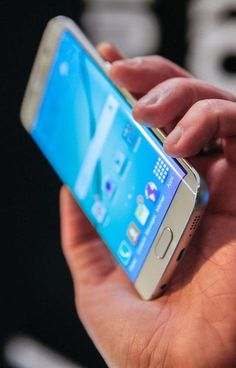 Samsung's Galaxy S6 Edge features a 5.1-inch QuadHD display and two curved edges.