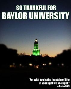 So thankful for #Baylor University, my time here, and all that it stands for. #sicem