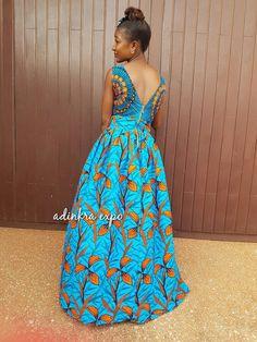 Ayo African Maxi Dress/ Ankara Dress / Ankara Gown by AdinkraExpo