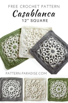 Casablanca Crochet Square | This is a fun square to make for pillows, throws, bedspreads and more! #crochet #patternparadisecrochet #afghansquare