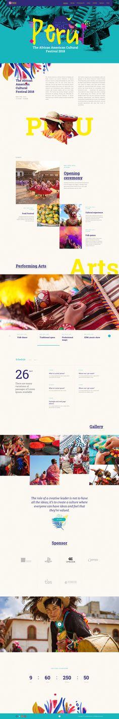 Culture Festival - Landing Page For Festival - BeauPress