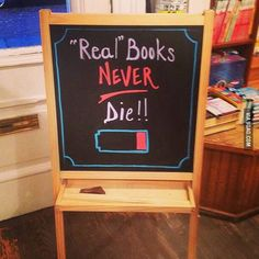 Chalkboard art for bookstore