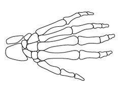 skeleton hand pattern - Halloween Skeleton Template