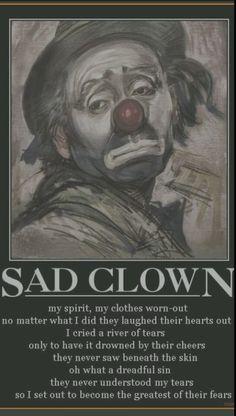 Sad clown.....