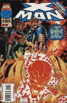 x-man comic book   Man 17 A, Jul 1996 Comic Book by Marvel