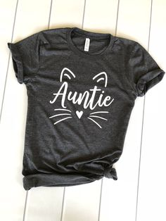 auntie cat shirt, gift for aunt, aunt squad shirt, Pregnancy reveal, baby announcement, pregnancy announcement shirt, pregnancy reveal shirt