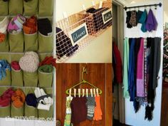 Scarf Storage | For The Home | Pinterest | Storage, Scarves And  Organizations