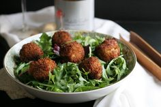 not just baked   Goat Cheese Bacon Croquettes with Pink Bubbly   http://notjustbaked.com