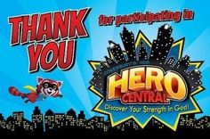 VBS 2017 Hero Central: Discover Your Strength in God! - Thank You Postcards (Pkg of 25)
