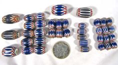 Venetian shevron beads