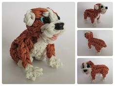 Rainbow Loom english bulldog - RUBBLE puppy Part 1/2