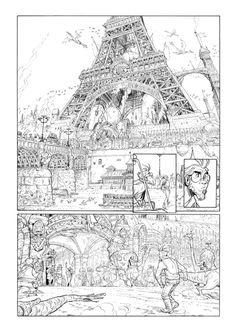Planche de Ekho tome 2 par Alessandro Barbucci,Christophe Arleston - Oeuvre originale http://www.2dgalleries.com/art/planche-de-ekho-tome-2-11244