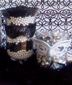 Masquerade Centerpiece Ideas | Masquerade sweet 16 dance / masquerade party centerpiece ideas