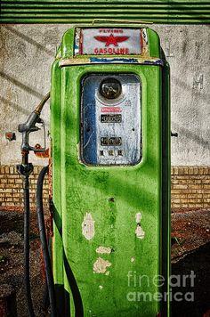 Vintage Gas Pump Photograph by Bob Stone - Vintage Gas Pump Fine Art Prints and Posters for Sale