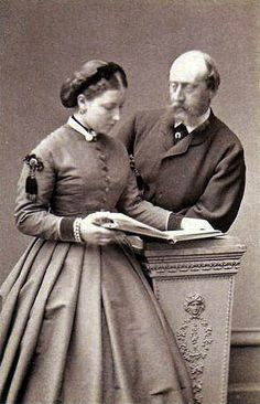 Princess Helena and her husband Prince Christian of Schleswig-Holstein.  Despite a 15 year age difference Helena and Christian were devoted to each other.  Helena was the 3rd of Queen Victoria's children to marry into German royalty.